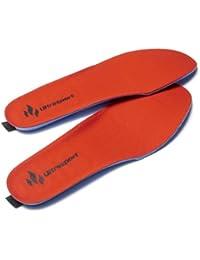 Ultrasport Deluxe Heatable Thermasole - Red, Size 35-40