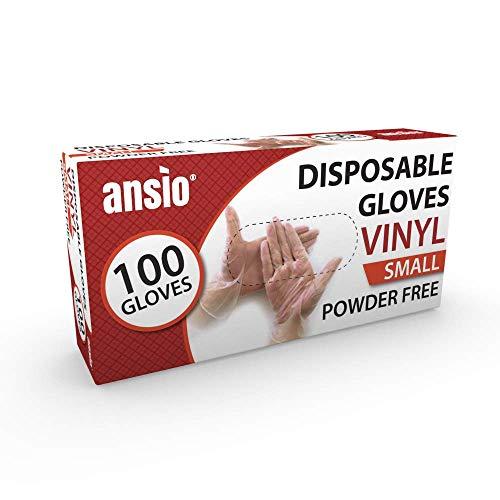 Guantes de vinilo desechables sin polvo de un solo uso, tamaño mediano, paquete de 100