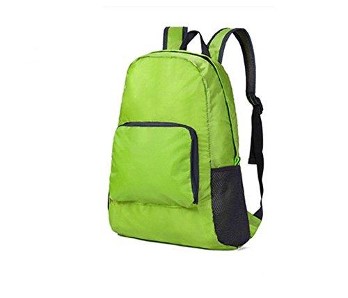 Qissy®Ultra-Leicht und faltbare Wasserdicht Day Rucksack Qualitäts-Camping Wandern Rucksack Tasche (Grau) Grün