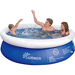 SUNMER 8FT Fast Prompt Set Paddling Pool Diameter 240 cm x Height 63 cm Family Size