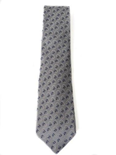 Armani Collezioni Cravatta Top Elegance in seta di colore grigio motivo geometrico