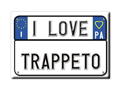 Enjoymagnets TRAPPETO CALAMITA Magnete Sicilia (PA) Italia Fridge Magnet Souvenir I Love (VAR. Targa)