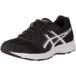 Asics Patriot 8, Zapatillas de Running Hombre, Negro (Black/White/White), 39 EU
