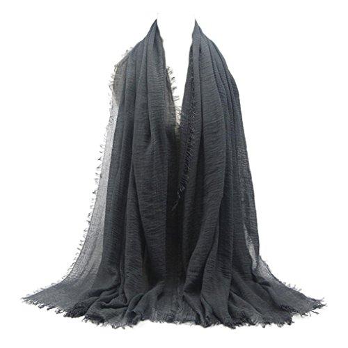 Islamisch Stil Kopftuch Hijab Kopfbedeckung Stola Leicht Unter Schal black