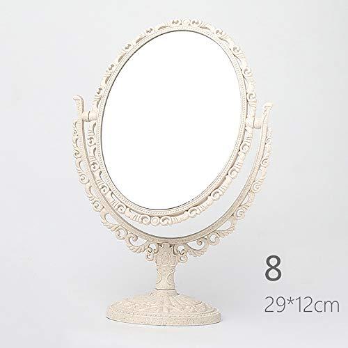 WUDHAO Beleuchteter Kosmetikspiegel Kosmetikspiegel 6-8 Zoll Doppelseitiger Kosmetikspiegel 1X / 3X Schwenker-Rasierspiegel Schminkspiegel (Design : Oval+Rectangular Base, Size : L) -