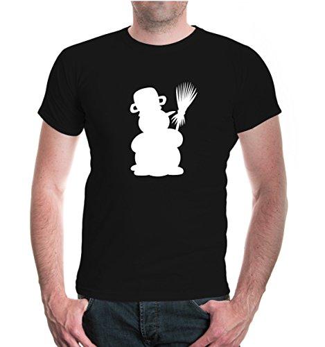 buXsbaum® T-Shirt Schneefigur Black-White