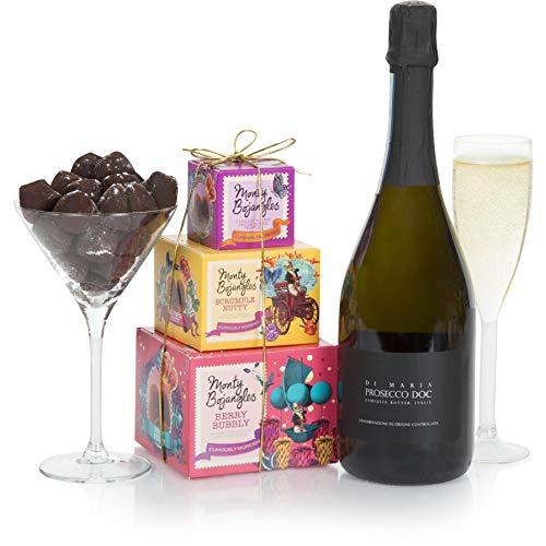 Prosecco and Chocolate Truffles Gift Basket - Wine Gifts For Her - Ladies Hampers & Gift Hampers for Birthday Gifts and Hamper