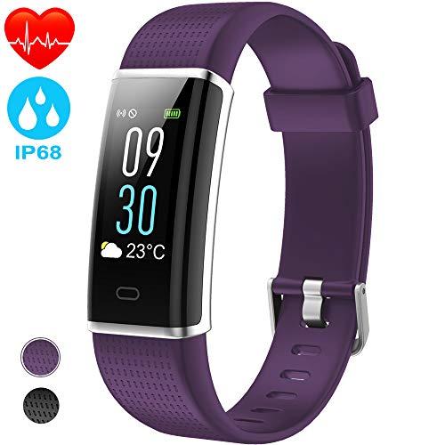 NAIXUES Pulsera Actividad IP68 con 14 Modos de Deporte Pantalla Color, Pulsera Inteligente con GPS Pulsómetro Podómetro Pulsera de Actividad Mujer Monitor de Actividad para iOS y Android