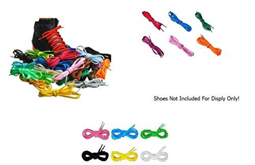 """12 Paia 54"""" di variopinti Lacci da Scarpe per stivaletti e scarpe atletiche, sportive e da ginnastica (Mezzo Tondo)"""