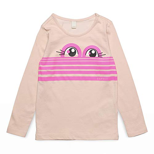 ESPRIT KIDS Mädchen Long Sleeve Tee-Shirt Langarmshirt, Rosa (Light Pink 311), (Herstellergröße: 104+) -