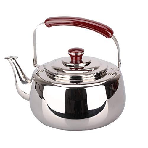 Hervidor de agua Whistle 4L Acero Inoxidable 304 Cocina de inducción hogar Universal Fondo Plano sondeo Caldera WHLONG
