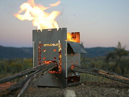 Firebox Bushcraft Camp Kit - Herd Holzofen/Multi Fuel - Klapp/Falt - tragbares Lagerfeuer