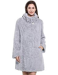 Adelaqueen Estupendo abrigo tres cuartos de invierno de piel de cordero persa sintética para mujer en diversos estilos