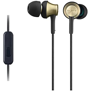 Sony MDREX650APT.CE7 Earphones with Brass Housing, Smartphone Mic and Control - Gold/black