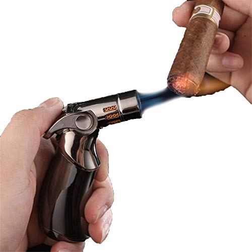 Zigarettenanzünder tragbar Outdoor BBQ Flame Gun Schweißgasbrenner Brenner Feuerzeug Gas Löten Kochen Feuerzeug Werkzeug Einheitsgröße blau
