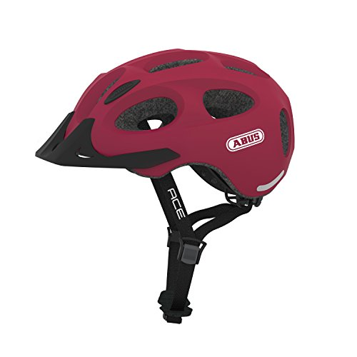 Abus Youn-I Ace Fahrradhelm, Cherry Red, L (58-61 cm)