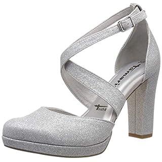 Tamaris Damen 1-1-24406-22 Slipper, Silber (Silver Glam 919), 38 EU