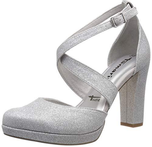 Tamaris Damen 1-1-24406-22 919 Slipper, Silber (Silver Glam 919), 40 ()