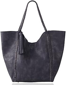 Eva & Evan® Design Damen Schultertasche Handtasche Tragetasche mit Kette aus PU Leder Elegant & Schön, zusätzlich...