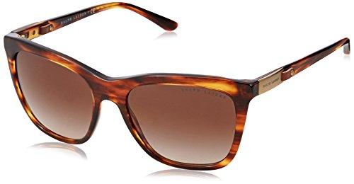 Ralph Lauren Damen 0Rl8151Q 500713 55 Sonnenbrille, Braun (Striped Havana/Gradient Brown),