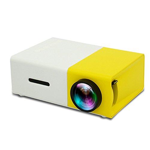GF&EL Mini-Projektor, tragbare LED-Projektor Heimkino-Theater mit PC USB/SD/AV/HDMI-Eingangstasche Projektor für Video Movie Game Home Projector