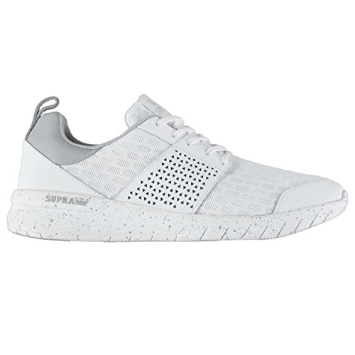 Supra Scissor Homme Chaussures Baskets À Lacets Sneakers Sport Gym Running Blanc/Blanc
