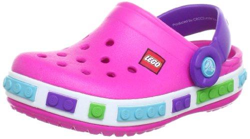 Crocs Crocband Kids Lego Clog, Sabots mixte enfant Rose (Neon Magenta/Neon Purple)