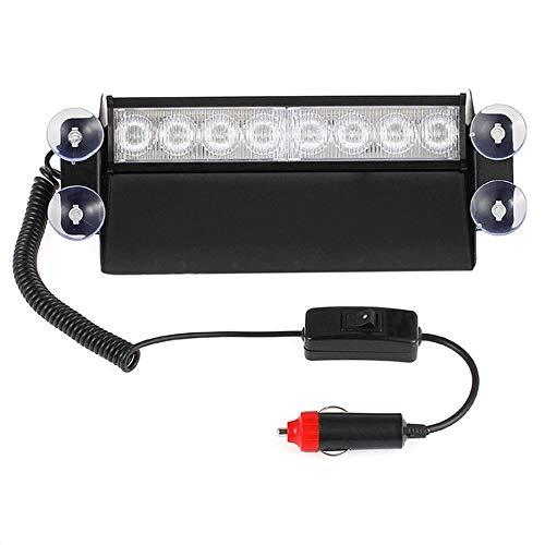 8 LED Red/Blue Car Police Strobe Flash Light Dash Emergency 3 Flashing Lamp DC12V Auto Warning Light Caution Lamp