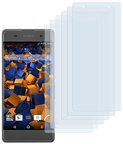6 x mumbi Schutzfolie für Sony Xperia XA Folie Displayschutzfolie (bewusst kleiner als das Display, da dieses gewölbt