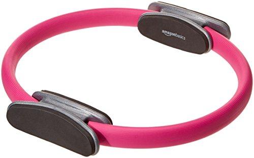 AmazonBasics - Cerchio per pilates, fitness e allenamento con resistenza, 35,6 cm, Rosa