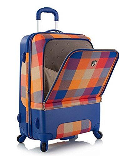 ... 50% SALE ... PREMIUM DESIGNER Hybrid Koffer - Heys Hybrid Spinner Chroma Orange/Blau - Trolley mit 4 Rollen Medium Orange/Blau