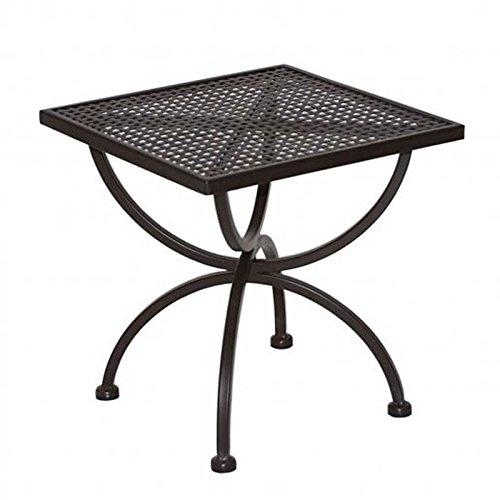 MBM Beistelltisch ROMEO 50x50cm Schmiedeeisen Marone Antik Gartenmöbel  Gartentisch
