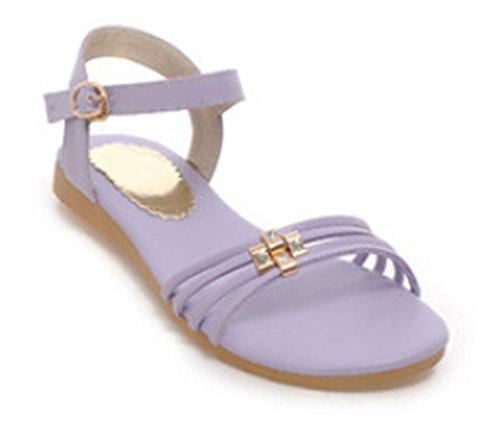 Flache Sandalen Casual Schülerin Wohnung mit einem großen Hof einfach wilde Schuhe Purple