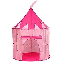 Truedays Tente de Jeu pour Enfants Princesse Pop Up Chateau Filles Rose Jouet Tente - avec Housse de Rangement