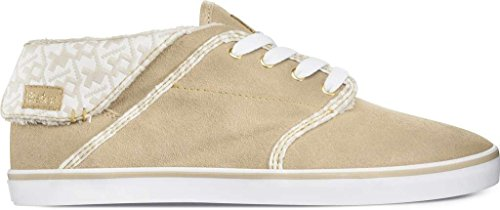 Etnies CAPRICE MID LE women High-Top Vulcanized TAN WHITE TAN WHITE