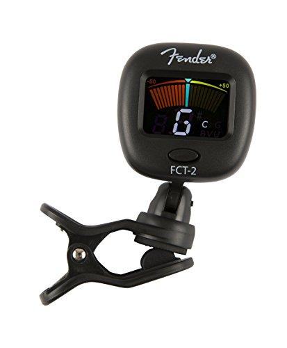 Fender FT-2 Pro - Afinador de clip con pantalla de color para guitarra acústica, guitarra eléctrica, bajo, mandolina, violín, ukelele, viola, cello, mandola y banjo