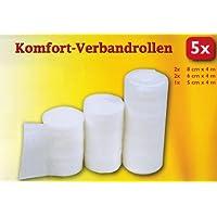 5x VERBANDROLLEN 4m elastische Bandage Verband Binde Fixierbinde 3 Größen preisvergleich bei billige-tabletten.eu