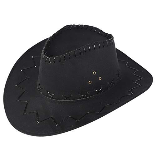 ITCHIC Cappello da Cowboy per Adulti Unisex Cappello per Cappelli Mongolo Cappellino Parasole per Prati Copricapo per Carnevale, Carnevale, Halloween, Feste a Tema e Altro in Diversi Modelli