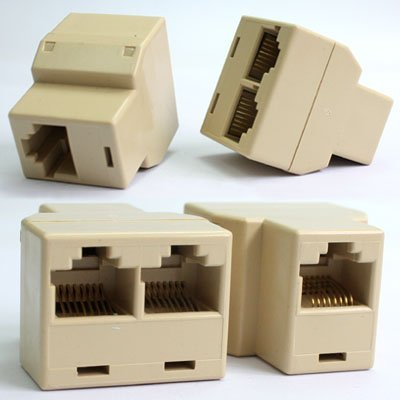 RJ45 Cat 5 LAN Ethernet Splitter Connector Adapter : everything five pounds (or less!)