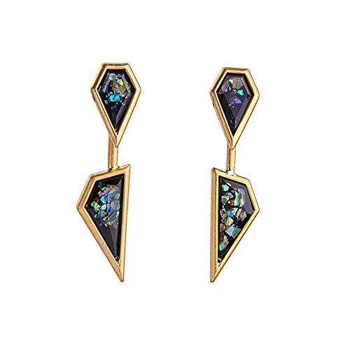 ZHWM Ohrringe Ohrstecker Ohrhänger Marke Geometrische Ohrringe Antike Goldfarbe Vintage-Schmuck Für Frauen Mädchen Geschenk Zubehör