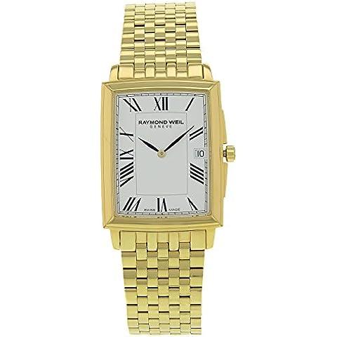 La tradición Raymond Weil 5456-P-00300 la de los hombres reloj cuarzo acero oro
