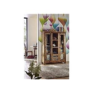 MASSIVMOEBEL24.DE Massivholz massiv Möbel Holz Highboard lackiert Altholz massiv Möbel Nature of Spirit #21