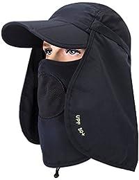 GADIEMENSS Folding Fishing Hat and Mask Quick Dry Sun Hat Face Cap Neck Protector Cap Baseball