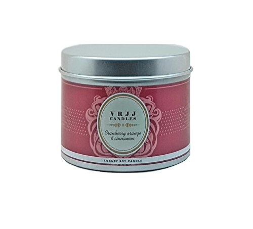 VRJJ Candele®-Candela di cera di soia profumata al mirtillo rosso,