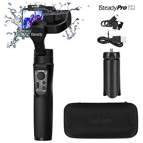 Presupuesto: Modelo: Hohem iSteady Pro 2 Material principal: materiales compuestos de alto rendimiento Compatibilidad: para GoPro Hero 7/6/5/4/3, para Sony RX0, para SJCAM, para YI cam y otras cámaras de acción con dimensiones y peso similares Tamaño...