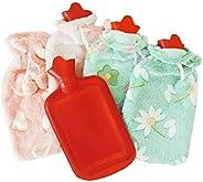 Torix Rubber Hot Water Bag Hand Warmer Warming Bottle Feet Warm Plush Fabric Winter Warming With Cute Cotton c