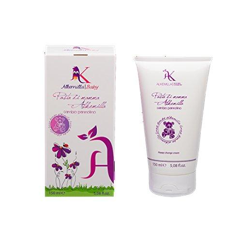 ALKEMILLA - Crema Cambio Pannolino Pasta di Mamma - per il Trattamento di Dermatiti da Pannolino e Arrossamenti - Protettiva e Nutriente - 150 ml