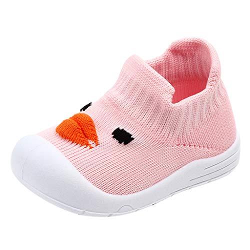 Alwayswin Unisex-Baby Outdoor Kleinkindschuhe Mode Slip-On Kinderschuhe Jungen Mädchen Cartoon Ente Weich Sportschuhe Süß Mesh Flache Schuhe Einzelne Schuhe Bequem rutschfest Babyschuhe Kinder Slip-on Schuhe