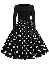 Amazon.it  vestiti anni 50 - Beige   Vestiti   Donna  Abbigliamento cb8ebcfc624