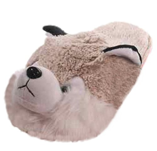 Hausschuhe Husky, beige/creme, Größe M = 38-40, Pantoffeln, Puschen